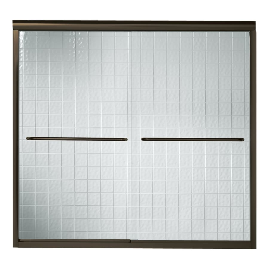 Sterling Finesse 59.625-in W x 55.5-in H Frameless Bathtub Door