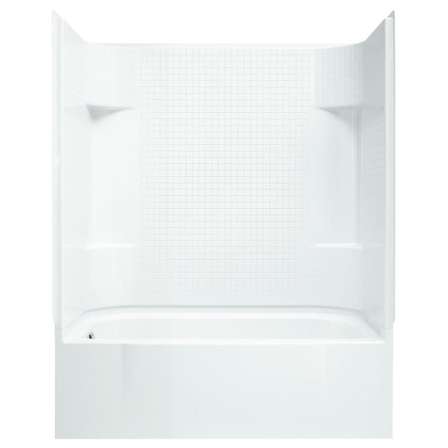 Sterling Accord 60.25-in White Vikrell Skirted Bathtub with Left-Hand Drain