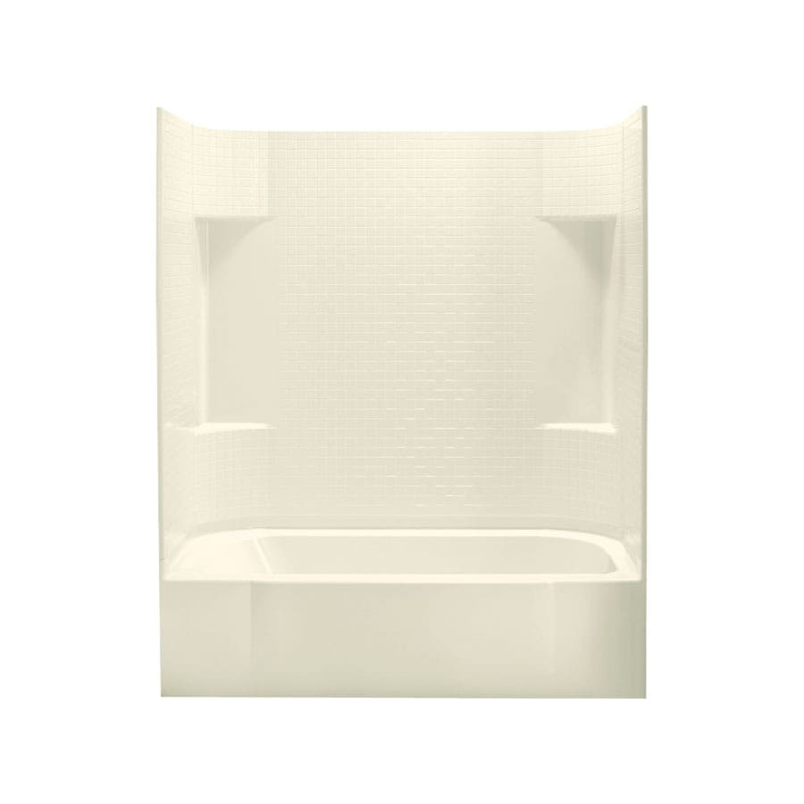 Sterling Accord 60.25-in Biscuit Vikrell Skirted Bathtub with Right-Hand Drain
