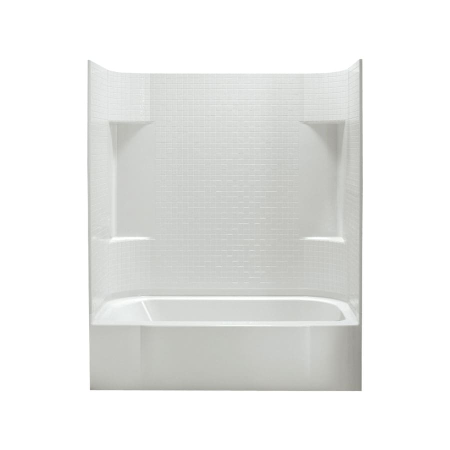 Sterling Accord White Fiberglass and Plastic Composite Rectangular Skirted Bathtub with Right-Hand Drain (Common: 30-in x 60-in; Actual: 74-in x 30.5-in x 60.25-in)