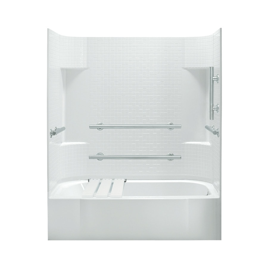 Sterling Accord 60.25-in White Vikrell Alcove Bathtub with Right-Hand Drain