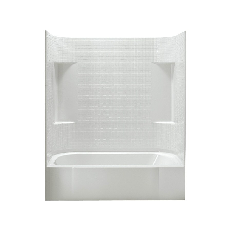 Sterling Accord White Fiberglass and Plastic Composite Rectangular Skirted Bathtub with Left-Hand Drain (Common: 30-in x 60-in; Actual: 72-in x 30.5-in x 60.25-in)