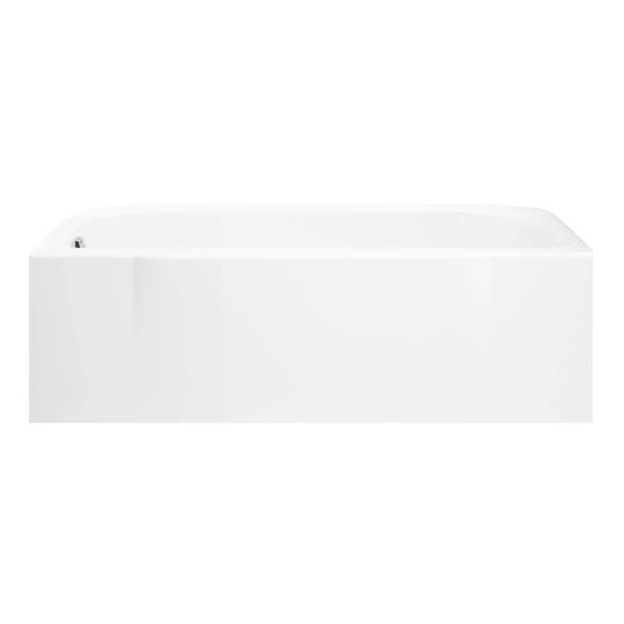 Sterling Accord White Fiberglass and Plastic Composite Rectangular Skirted Bathtub with Left-Hand Drain (Common: 30-in x 60-in; Actual: 17-in x 30.5-in x 60.25-in)