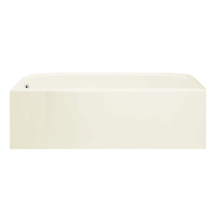 Sterling Accord 60.25-in Biscuit Vikrell Skirted Bathtub with Left-Hand Drain