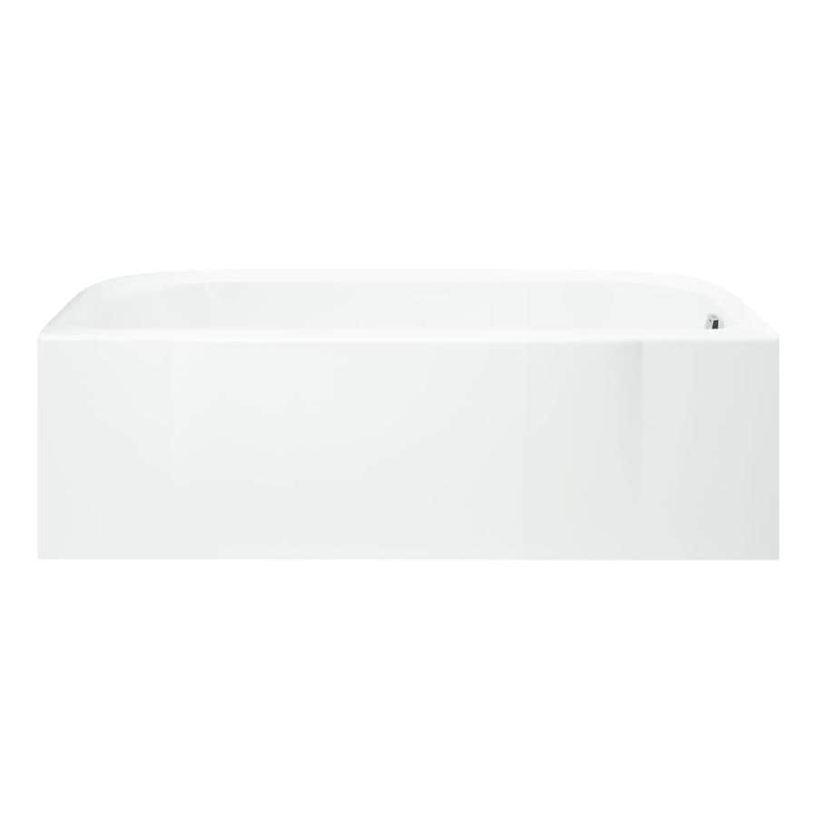 Sterling Accord White Fiberglass and Plastic Composite Rectangular Skirted Bathtub with Right-Hand Drain (Common: 30-in x 60-in; Actual: 17-in x 30.5-in x 60.25-in)
