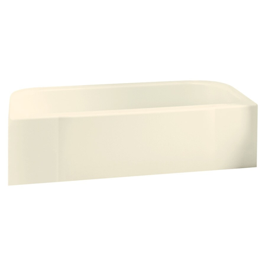 Sterling Accord Biscuit Vikrell Rectangular Skirted Bathtub with Right-Hand Drain (Common: 30-in x 60-in; Actual: 17-in x 30.5-in x 60.25-in)