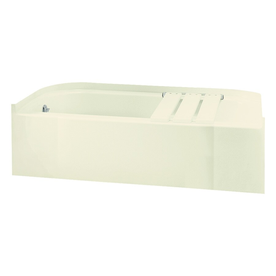 Sterling Accord Biscuit Fiberglass and Plastic Composite Rectangular Skirted Bathtub with Left-Hand Drain (Common: 30-in x 60-in; Actual: 15-in x 30.5-in x 60.25-in)