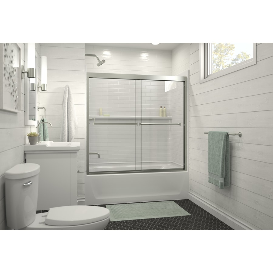 Sterling Shower Wall Surround Corner Wall Panel (Common: 30-in x 31.25-in; Actual: 55-in x 30-in x 31.25-in)
