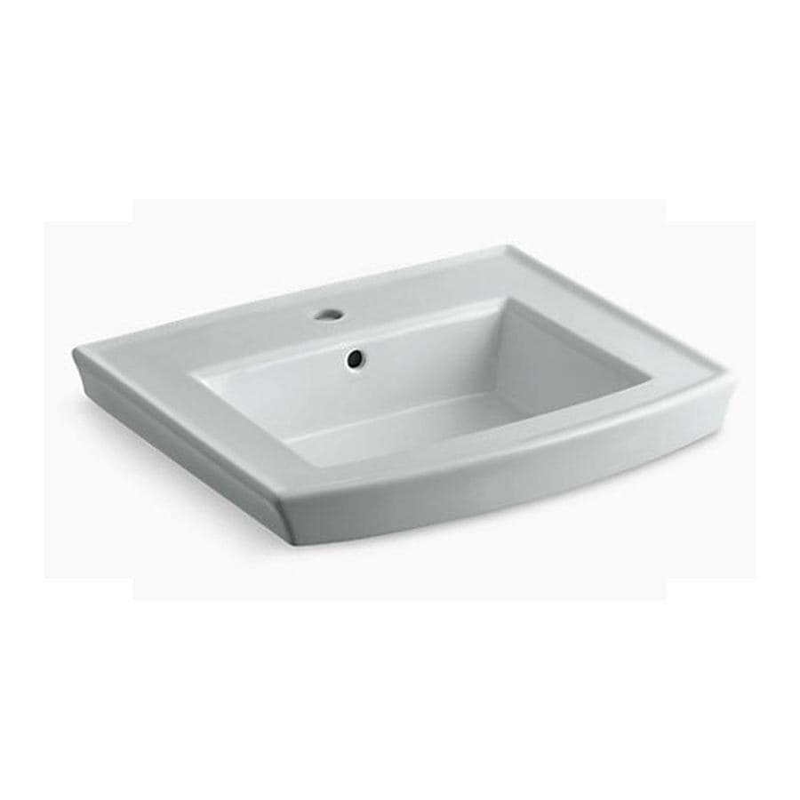 KOHLER 23.9375-in L x 20.4375-in W Ice Grey Pedestal Sink Top