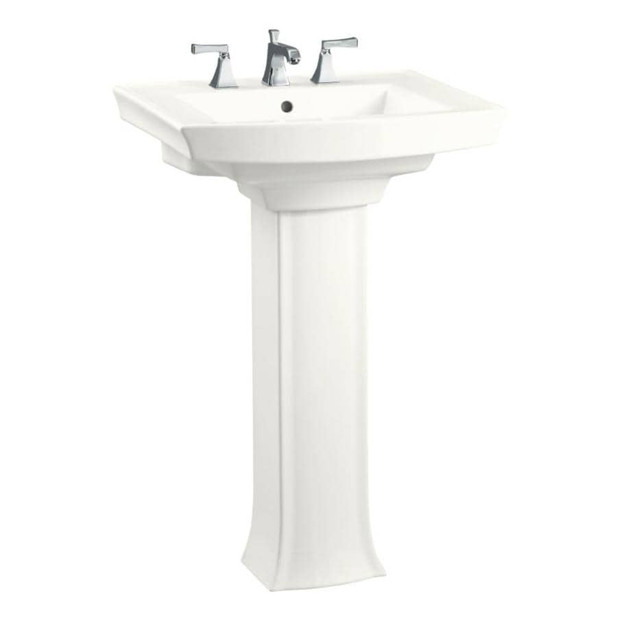Shop KOHLER Archer 35.25-in H White Vitreous ChiPedestal Sink at ...