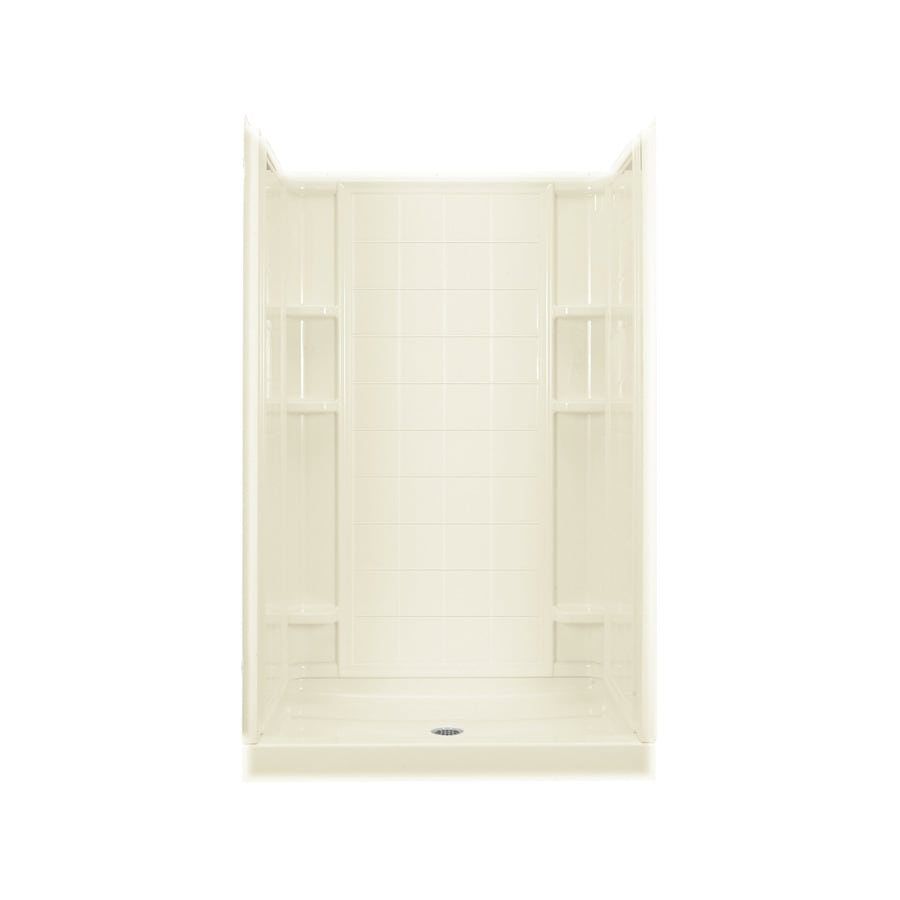 Sterling KOHLER Biscuit Vikrell Wall and Floor Alcove Shower Kit (Common: 34-in x 48-in; Actual: 75.75-in x 34-in x 48-in)