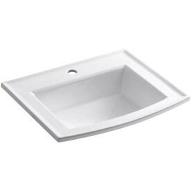 Bathroom Sinks Rectangular shop bathroom sinks at lowes