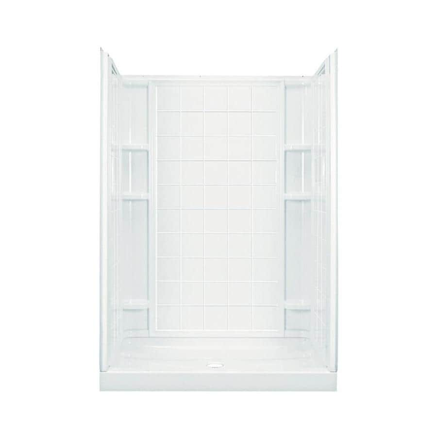 Sterling Ensemble White 4-Piece Alcove Shower Kit (Common: 34-in x 60-in; Actual: 77-in x 35.25-in x 60-in)