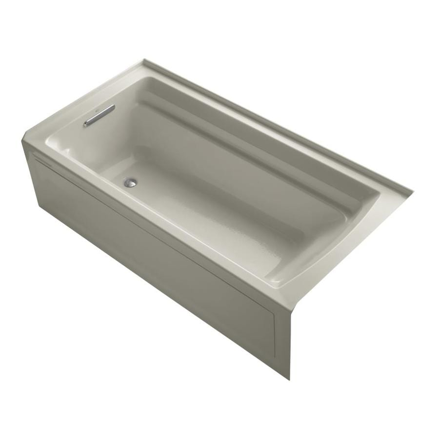 KOHLER Archer 72-in Sandbar Acrylic Alcove Bathtub with Left-Hand Drain