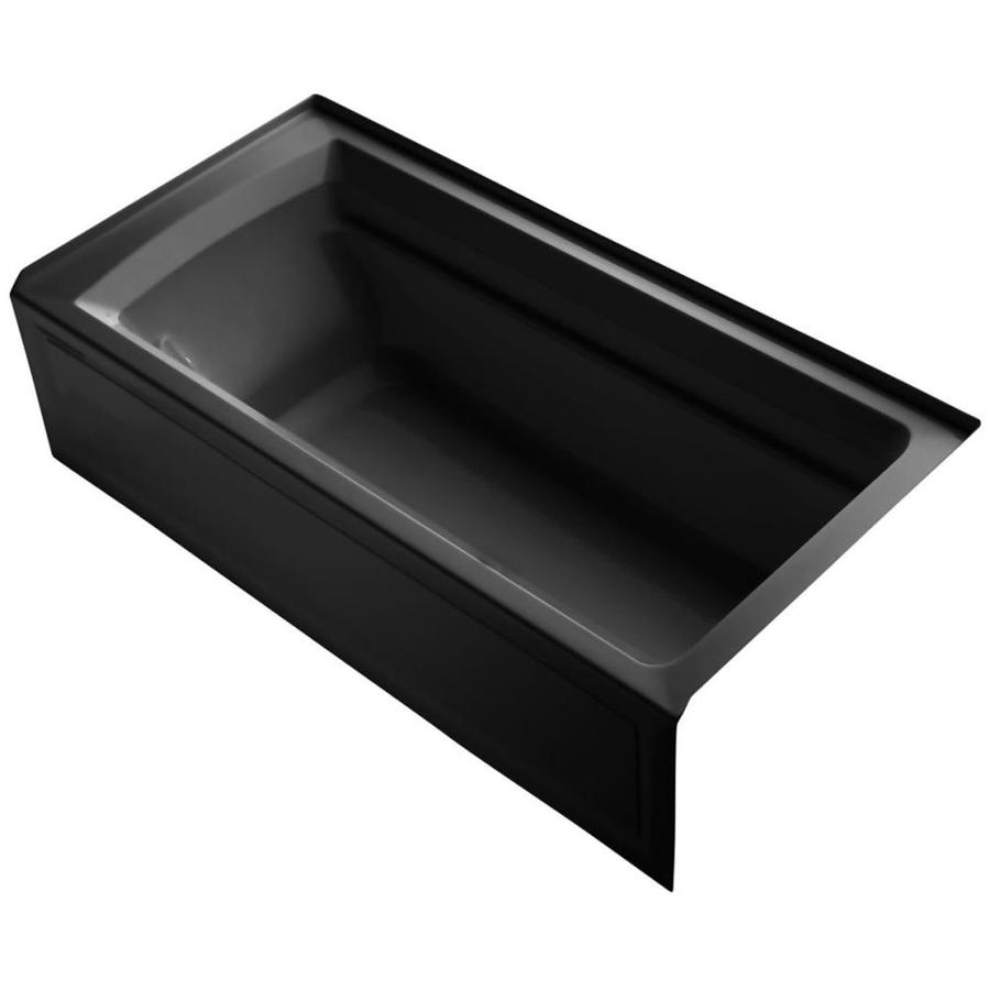 KOHLER Archer 72-in Black Black Acrylic Drop-In Bathtub with Right-Hand Drain