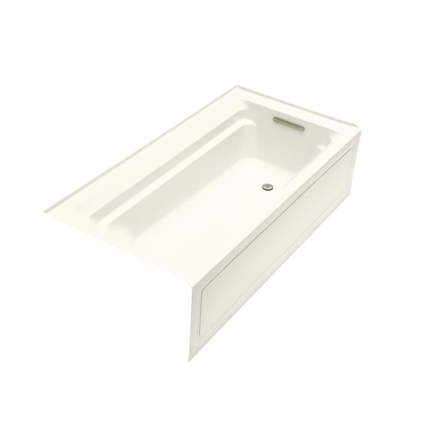 KOHLER Archer 72-in Biscuit Acrylic Alcove Bathtub with Right-Hand Drain
