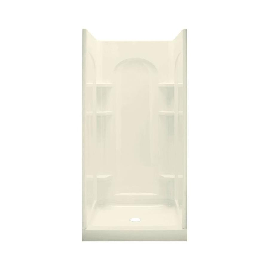 Sterling Ensemble Biscuit Vikrell Wall and Floor 4-Piece Alcove Shower Kit (Common: 34-in x 42-in; Actual: 75.75-in x 34-in x 42-in)