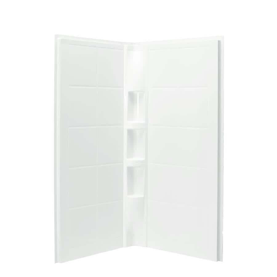 Sterling Shower Wall Surround Corner Wall Panel (Common: 41-in x 40.25-in; Actual: 74.25-in x 40.25-in x 40.25-in)