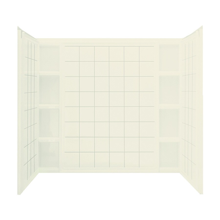 Sterling Ensemble Biscuit Vikrell Bathtub Wall Surround (Common: 60-in x 44-in; Actual: 54.25-in x 60-in x 43.5-in)