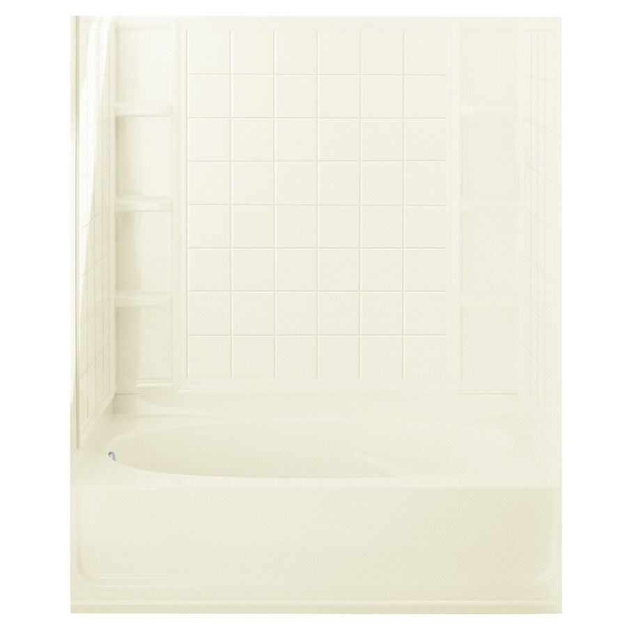 Sterling Ensemble AFD Biscuit 4-Piece Alcove Shower Kit (Common: 42-in x 60-in; Actual: 42-in x 60-in)