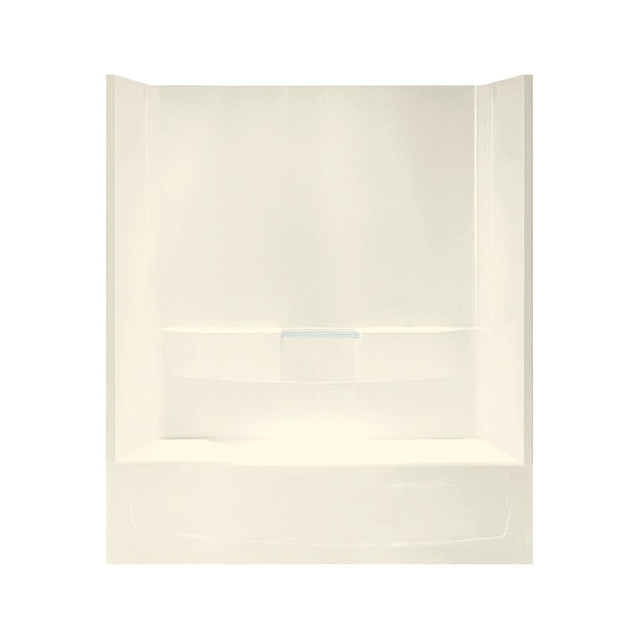 Sterling Performa Biscuit Vikrell Oval In Rectangle Skirted Bathtub with Left-Hand Drain (Common: 29-in x 60-in; Actual: 75.5000-in x 29-in x 60.2500-in)