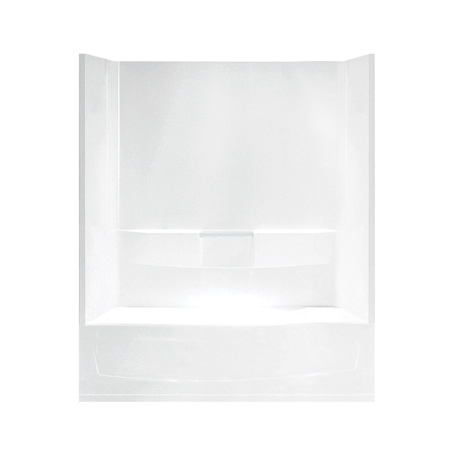 Sterling Performa White Fiberglass and Plastic Composite Oval In Rectangle Skirted Bathtub with Right-Hand Drain (Common: 29-in x 60-in; Actual: 77.75-in x 29-in x 60.25-in)
