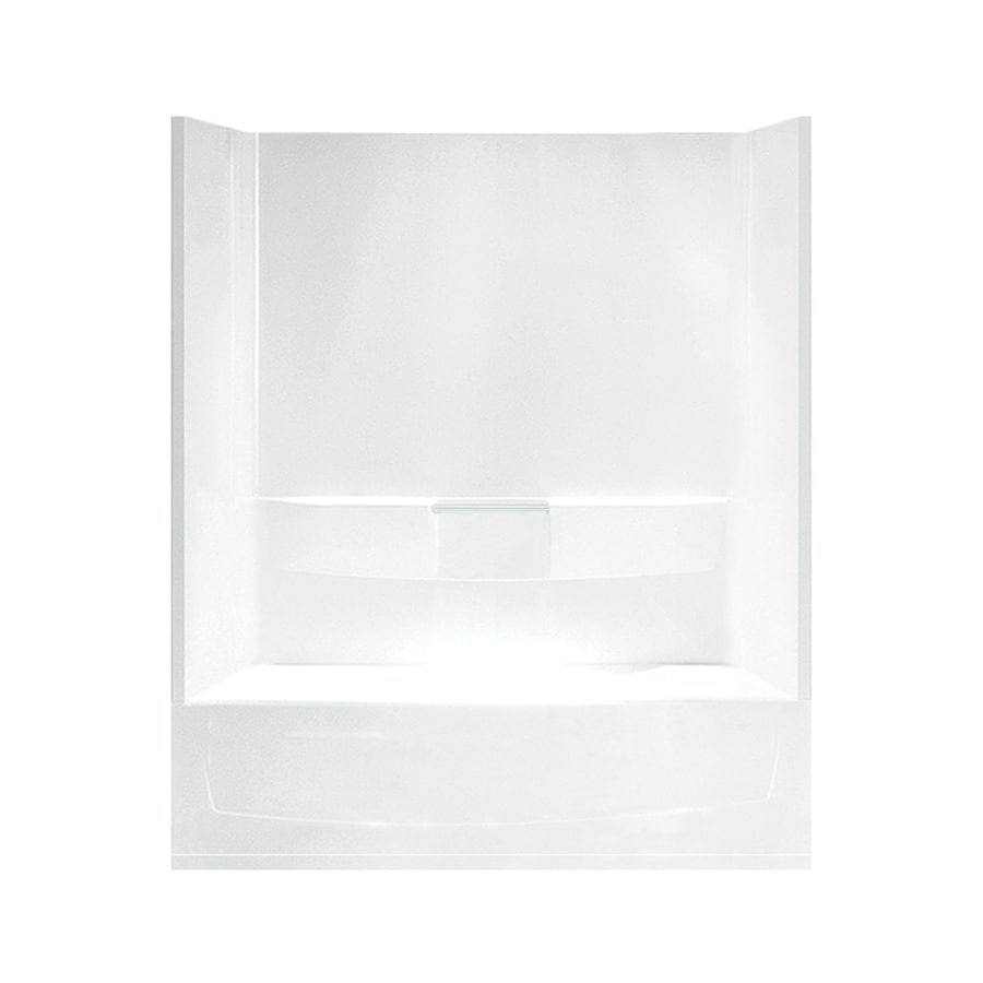 Sterling Performa White Vikrell Oval In Rectangle Skirted Bathtub with Right-Hand Drain (Common: 29-in x 60-in; Actual: 77.75-in x 29-in x 60.25-in)