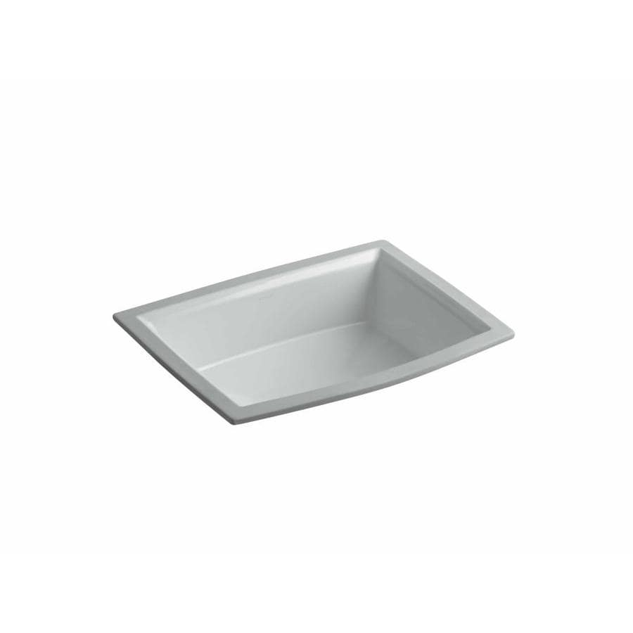 Https Www Lowes Com Pd Kohler Archer Ice Grey Undermount Rectangular  Bathroom Sink With Overflow 999966745