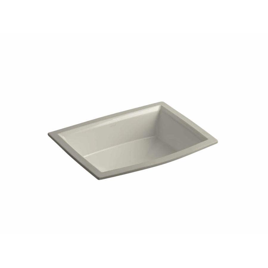 Shop KOHLER Archer Sandbar Undermount Rectangular Bathroom Sink with ...