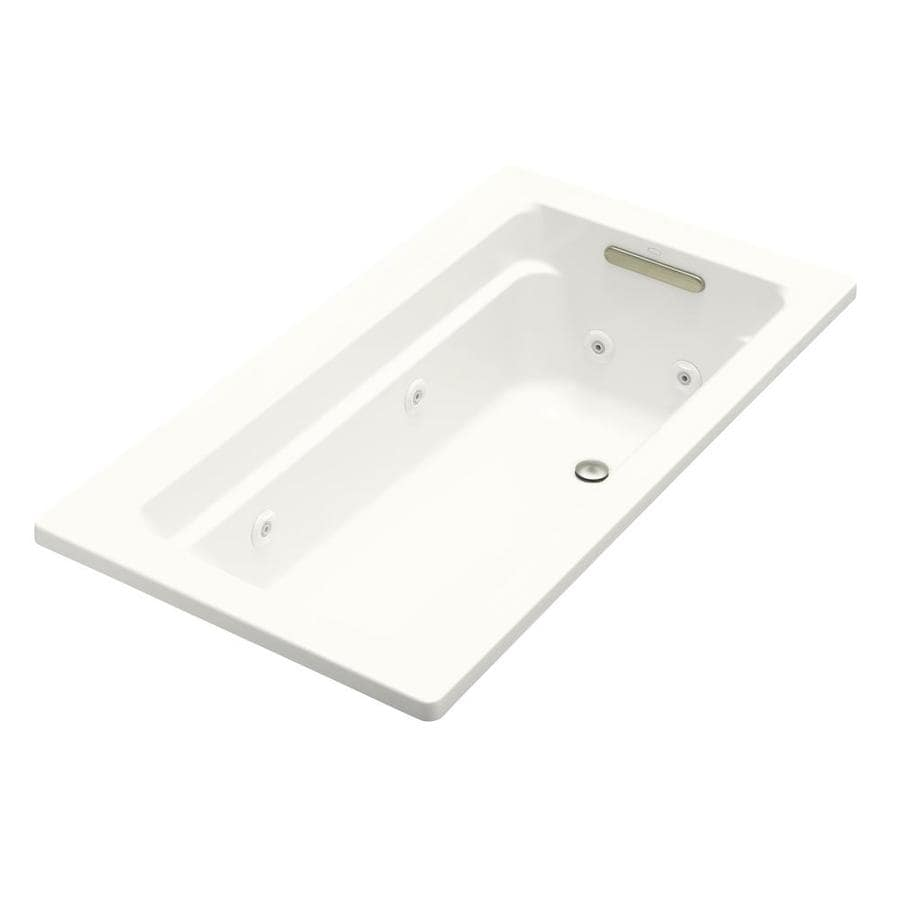 KOHLER Archer White Acrylic Rectangular Whirlpool Tub (Common: 32-in x 60-in; Actual: 19-in x 32-in x 60-in)