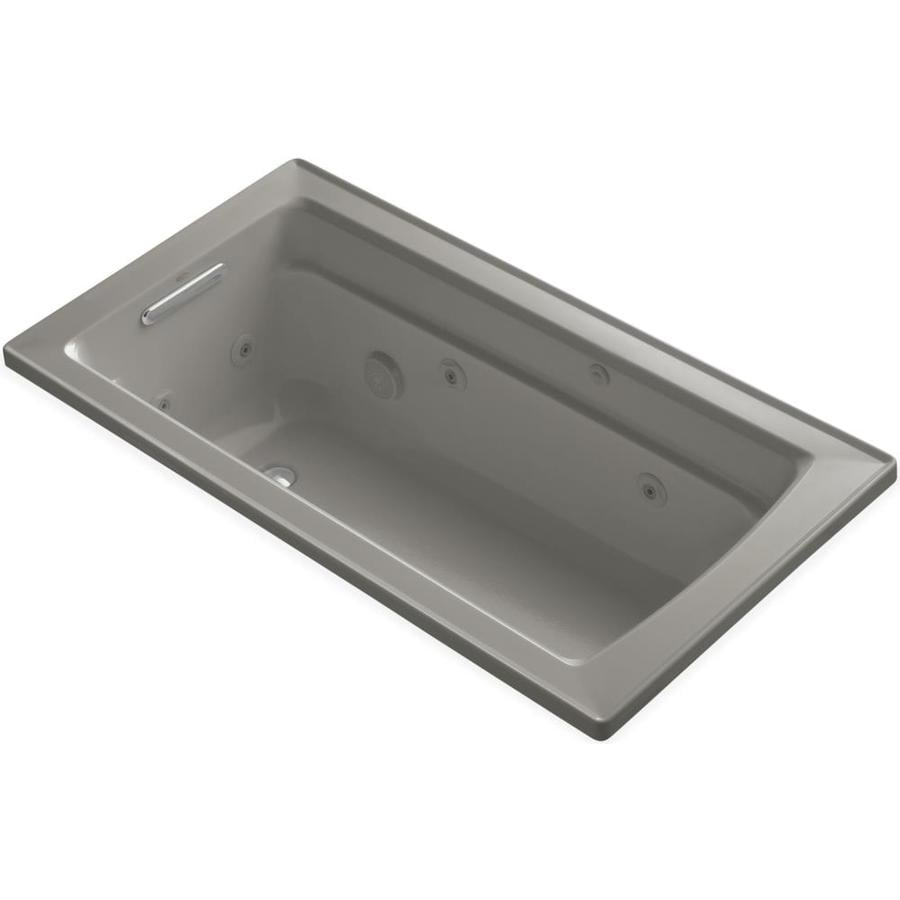 KOHLER Archer Cashmere Acrylic Rectangular Whirlpool Tub (Common: 32-in x 60-in; Actual: 19.0000-in x 32.0000-in x 60.0000-in)