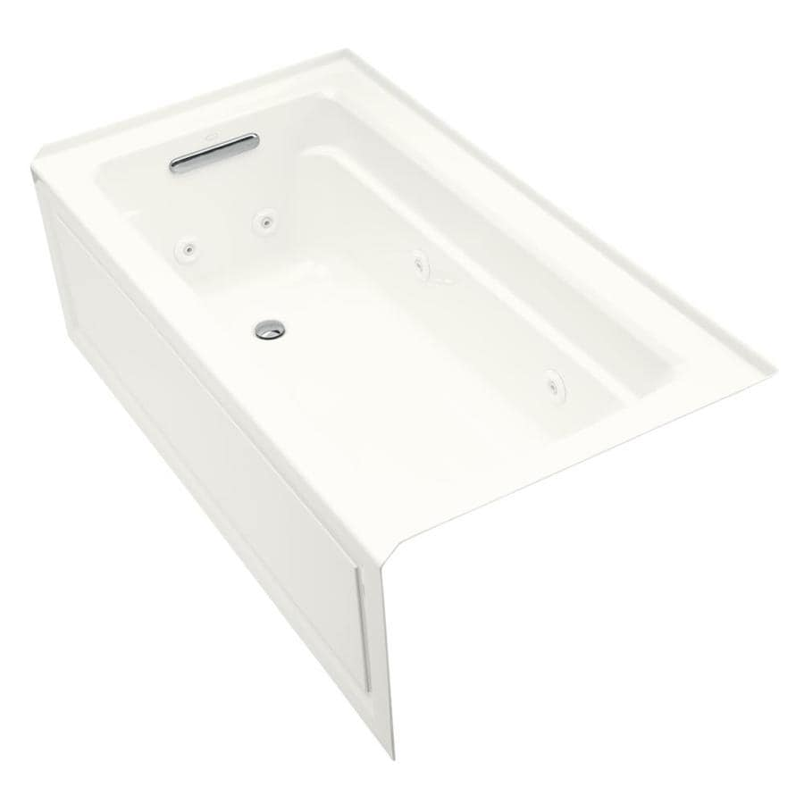 KOHLER Archer 60-in White Acrylic Skirted Whirlpool Tub with Left-Hand Drain