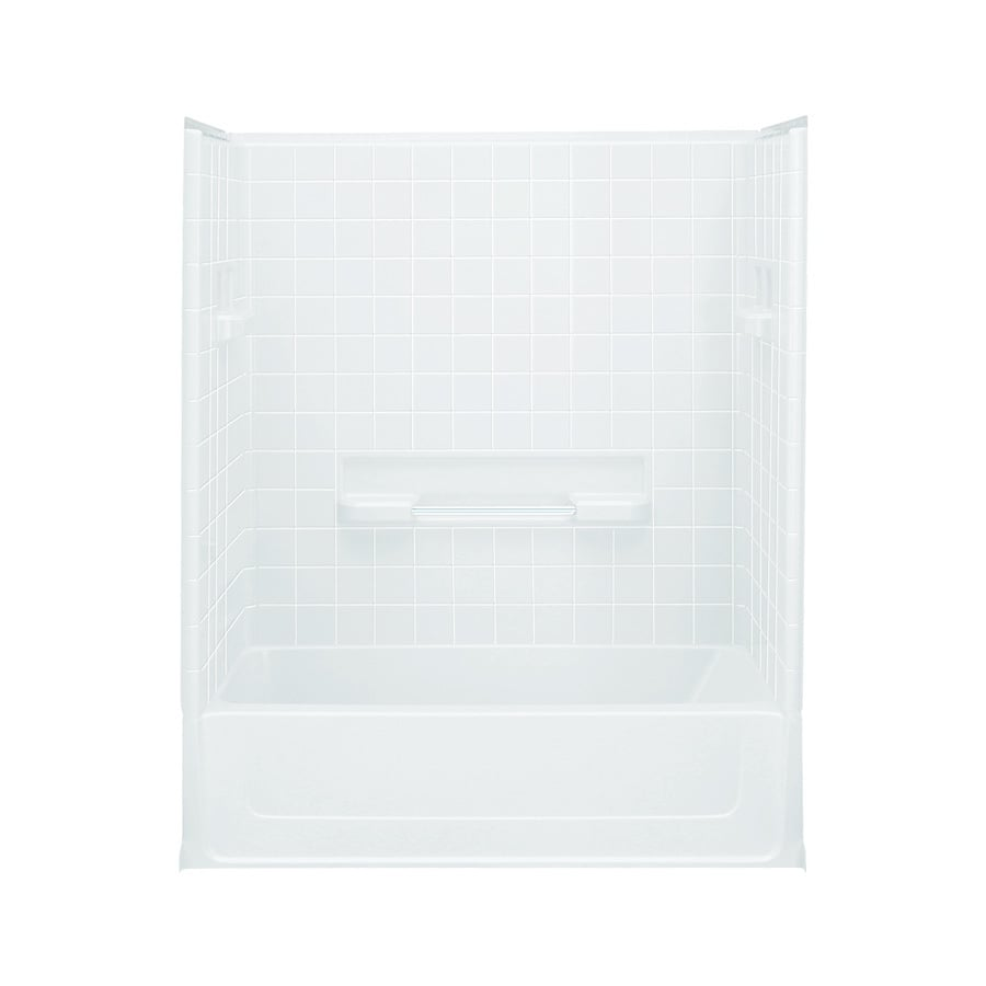 Sterling All Pro 60-in White Vikrell Alcove Bathtub with Left-Hand Drain