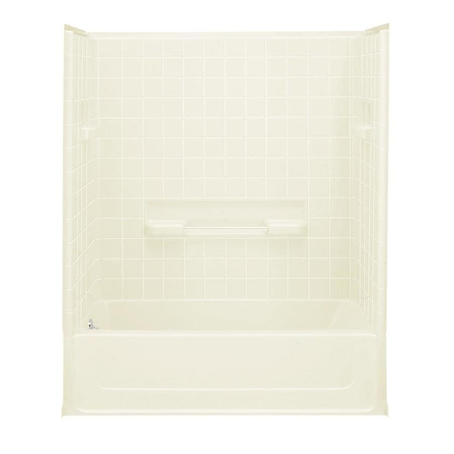 Sterling All Pro Biscuit 4-Piece Alcove Shower Kit (Common: 30-in x 60-in; Actual: 73.5-in x 30-in x 60-in)
