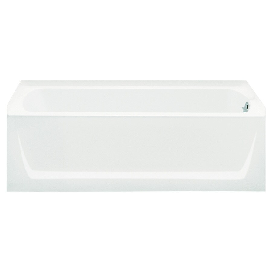 Sterling Ensemble White Vikrell Rectangular Skirted Bathtub with Right-Hand Drain (Common: 32-in x 60-in; Actual: 20-in x 32-in x 60.2500-in)
