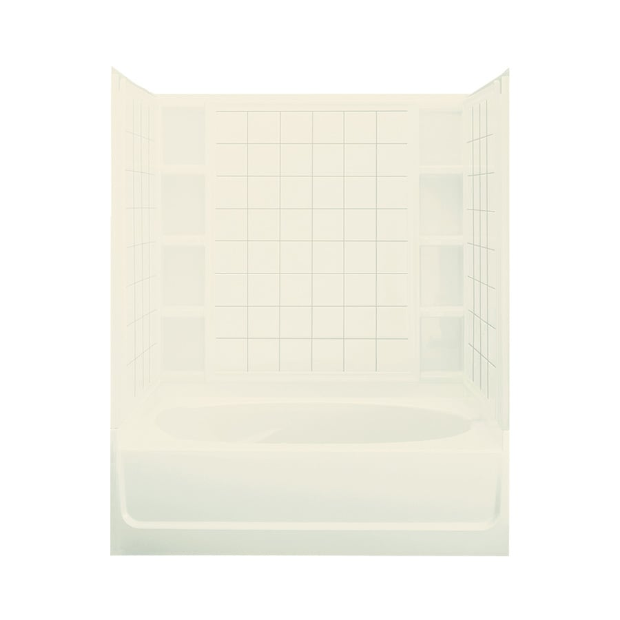 Sterling Ensemble Biscuit Vikrell Oval In Rectangle Skirted Bathtub with Left-Hand Drain (Common: 36-in x 60-in; Actual: 20-in x 36-in x 60.25-in)