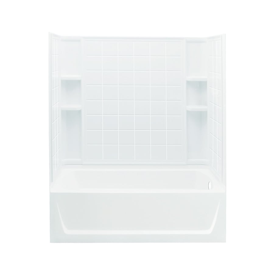 Sterling Ensemble White Vikrell Rectangular Skirted Bathtub with Right-Hand Drain (Common: 32-in x 60-in; Actual: 20-in x 32-in x 60.25-in)