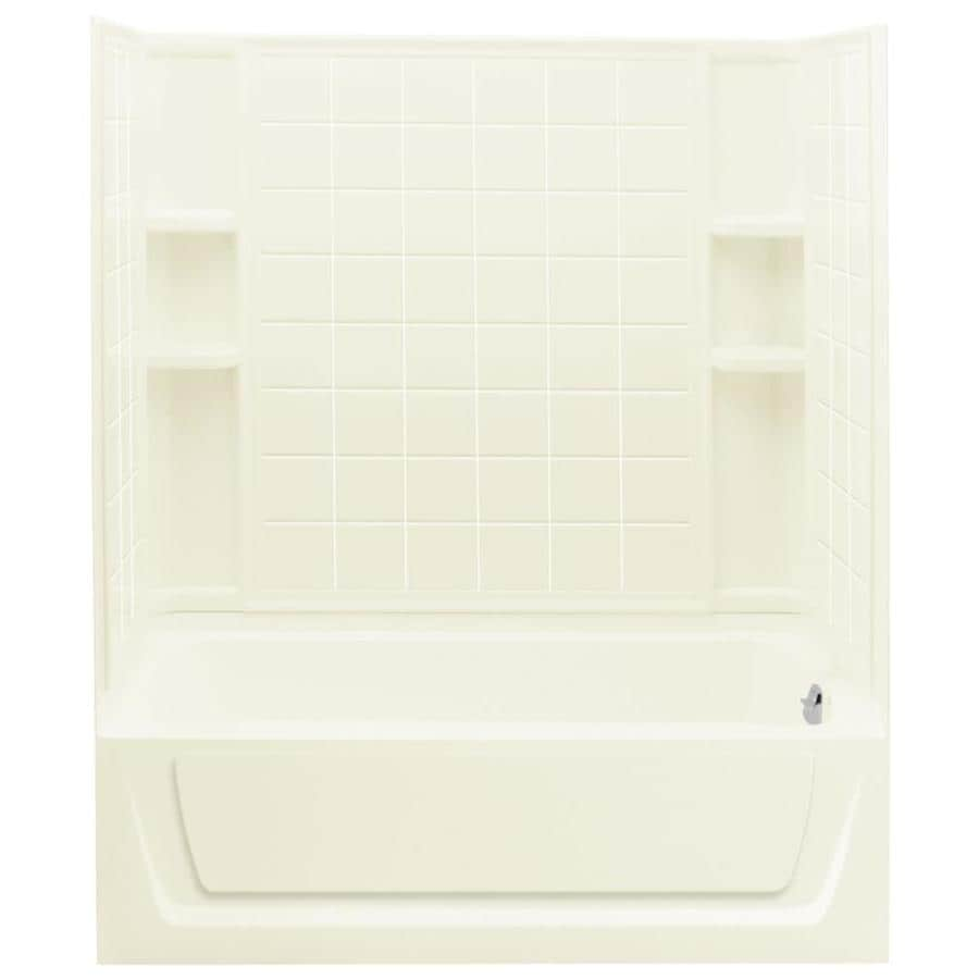 Sterling Ensemble Biscuit 4-Piece Alcove Shower Kit (Common: 32-in x 60-in; Actual: 74-in x 32-in x 60-in)