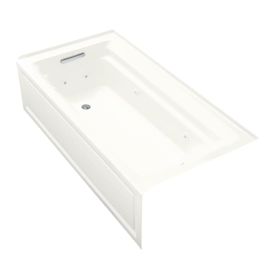 KOHLER Archer White Acrylic Rectangular Whirlpool Tub (Common: 36-in x 72-in; Actual: 19.0000-in x 36.0000-in x 72.0000-in)