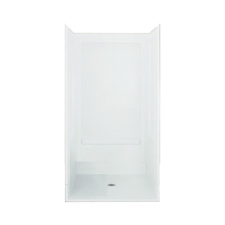 Sterling Advantage White Vikrell Wall and Floor 4-Piece Alcove Shower Kit (Common: 40-in x 40-in; Actual: 72-in x 39.375-in x 39.375-in)