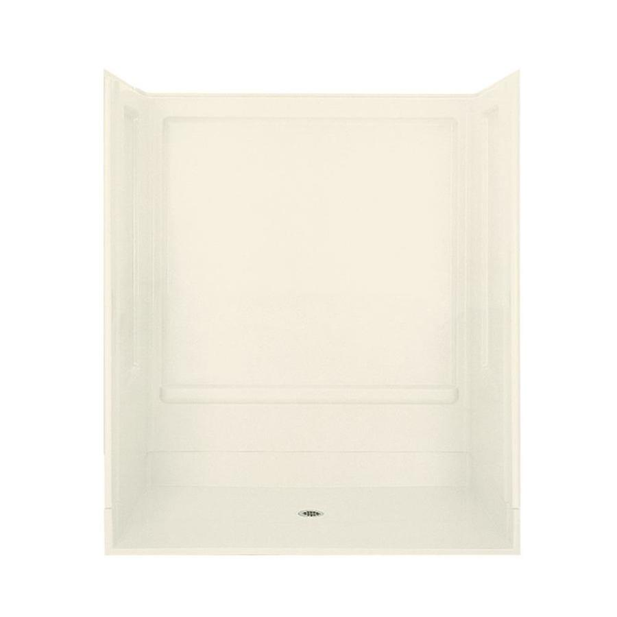 Sterling Advantage Biscuit Vikrell Wall and Floor 4-Piece Alcove Shower Kit (Common: 40-in x 40-in; Actual: 72-in x 39.375-in x 63.25-in)