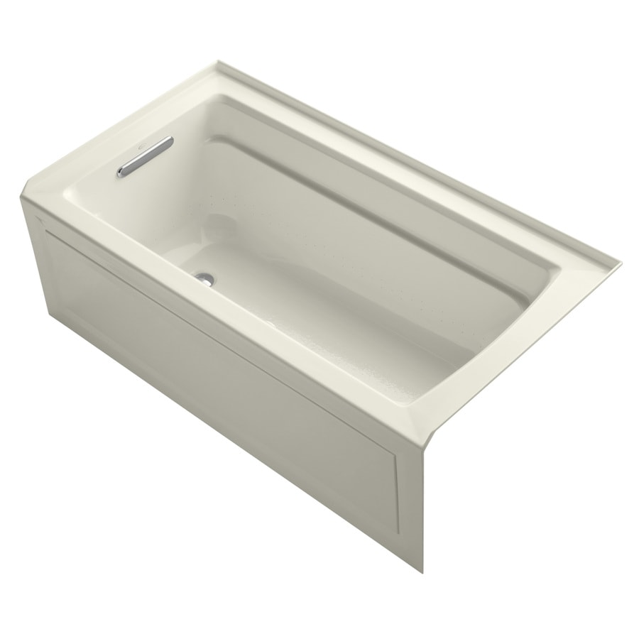 KOHLER Archer 60-in L x 32-in W x 19-in H Acrylic Rectangular Alcove Air Bath