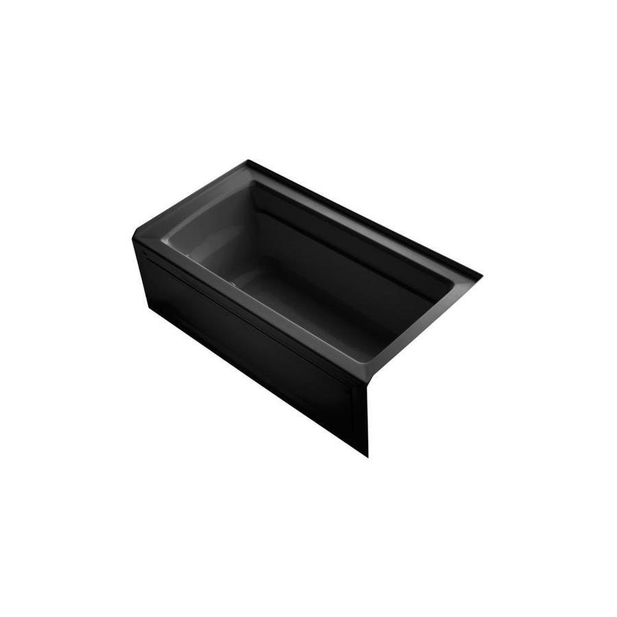 KOHLER Archer 60-in Black Acrylic Drop-In Air Bath with Right-Hand Drain