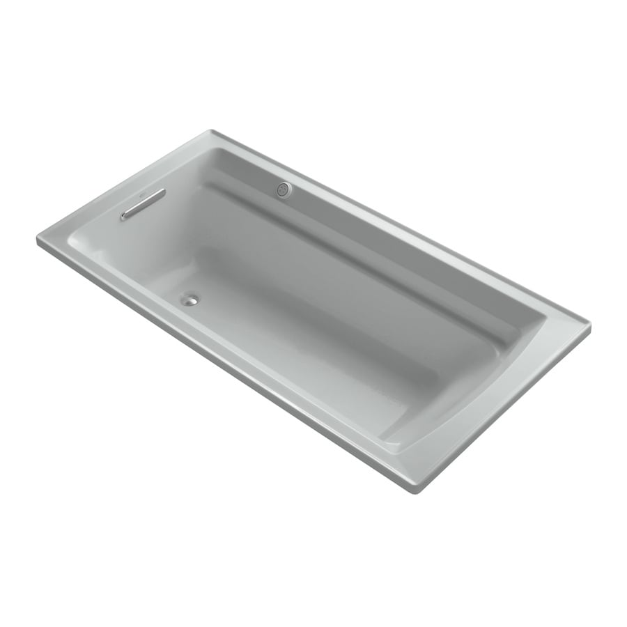 KOHLER Archer 72-in L x 36-in W x 19-in H Acrylic Rectangular Drop-in Air Bath