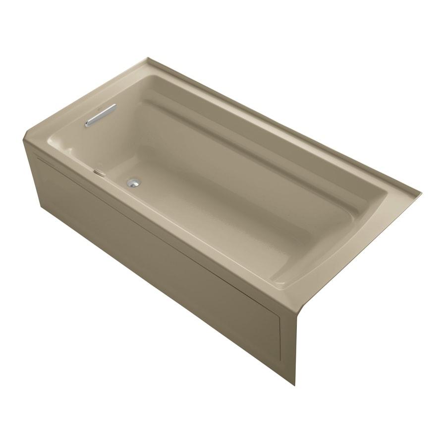 KOHLER Archer 72-in L x 36-in W x 19-in H Acrylic Rectangular Alcove Air Bath