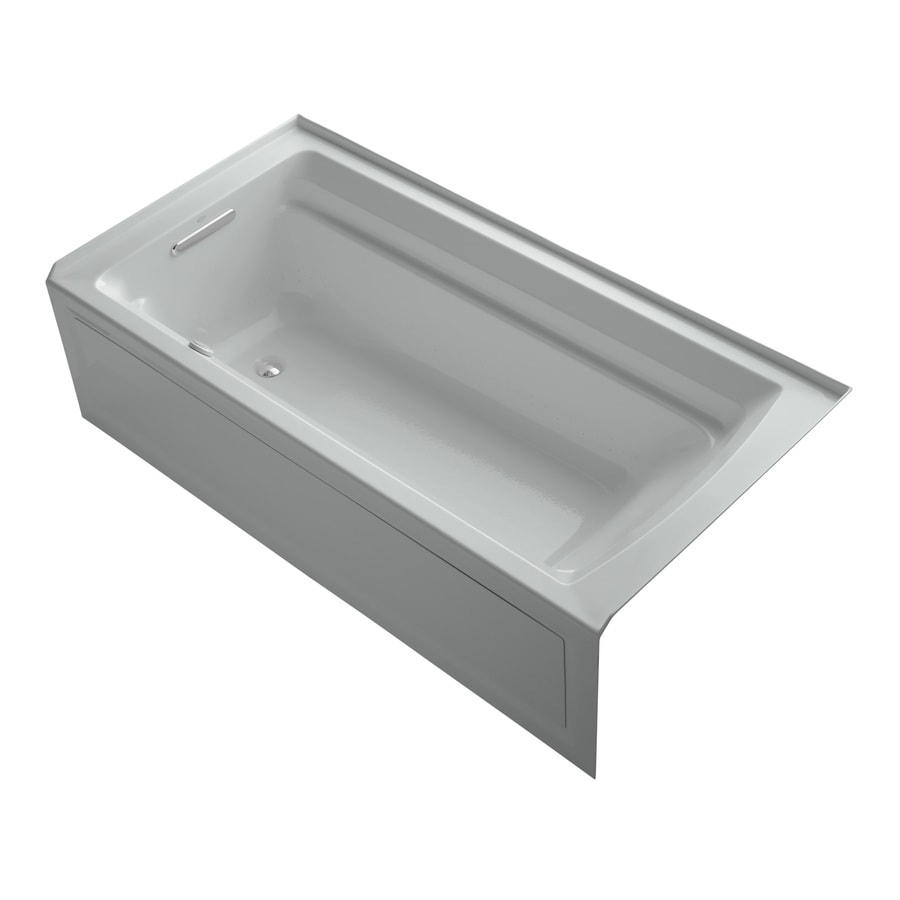 KOHLER Archer 72-in L x 36-in W x 19-in H Acrylic Rectangular Alcove Air Bath