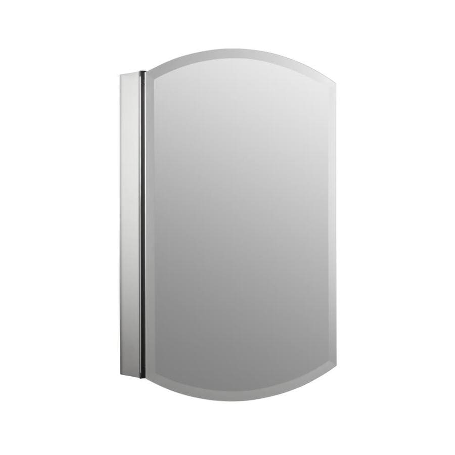 Kohler archer 20 in x 31 in rectangle surface recessed aluminum mirrored medicine