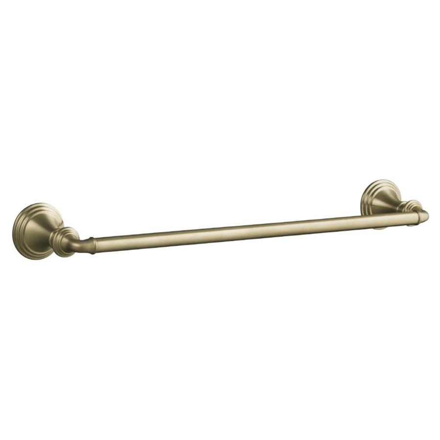 KOHLER Devonshire Vibrant Brushed Bronze Single Towel Bar (Common: 18-in; Actual: 20.375-in)