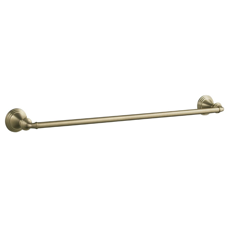 KOHLER Devonshire Vibrant Brushed Bronze Single Towel Bar (Common: 24-in; Actual: 26.375-in)