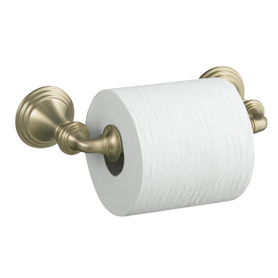 Shop Kohler Devonshire Vibrant Brushed Bronze Surface Mount Spring Loaded Toilet Paper Holder At